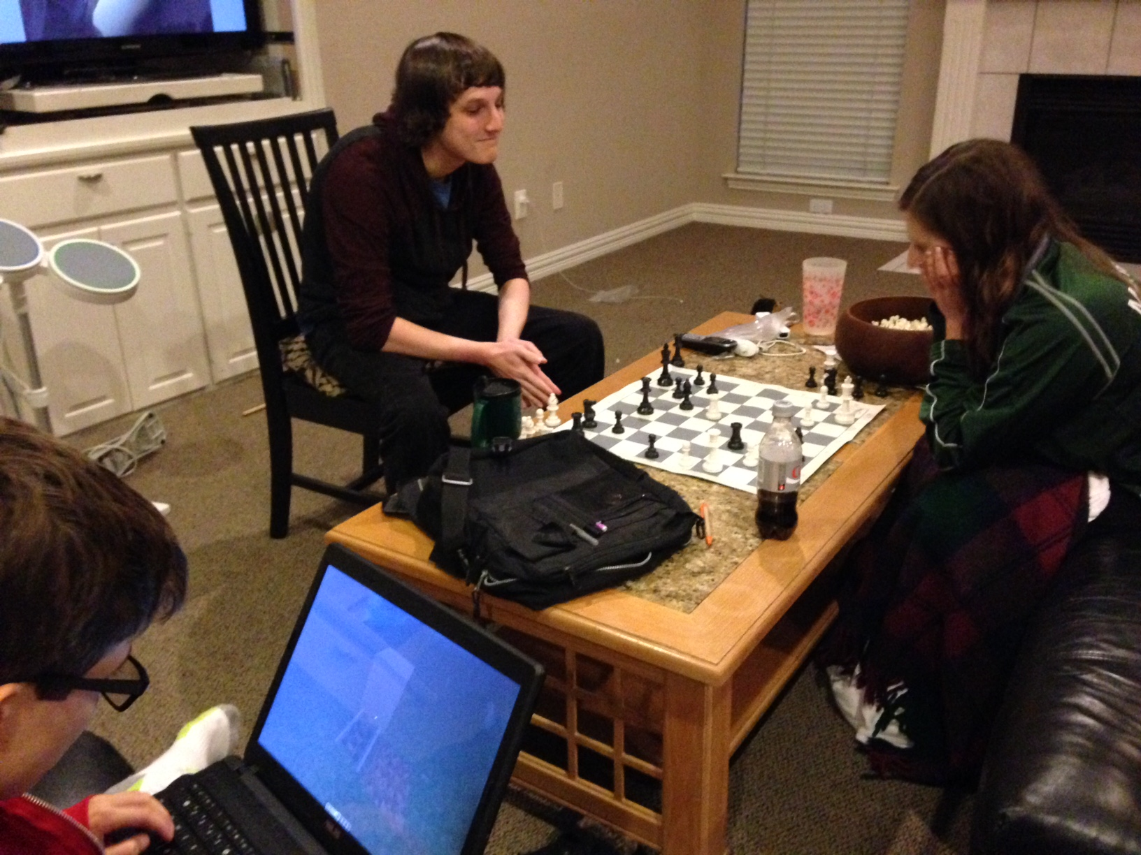 Lane and Shelby play chess