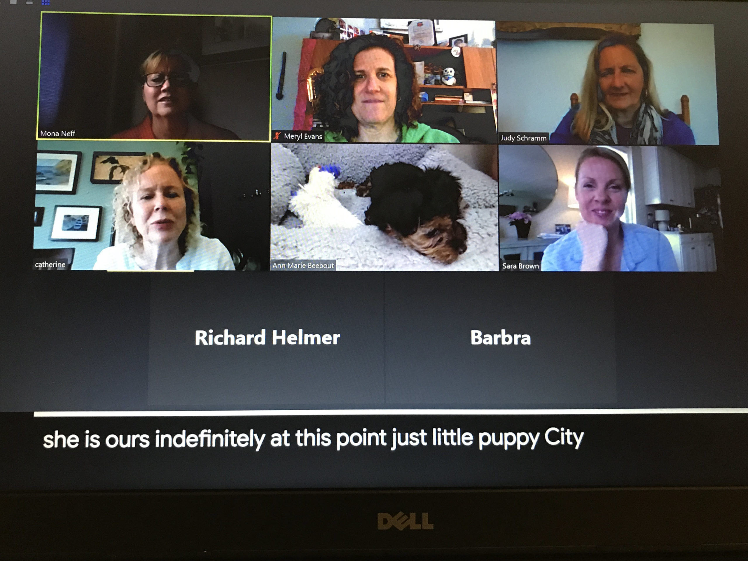Video call with automatic captioning by Google Slides