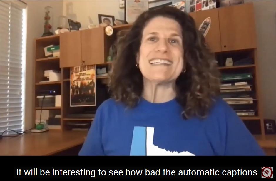 Video still of Meryl with long captions